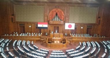 """بالفيديو..توافد اعضاء البرلمان اليابانى على مقر """"الدايت"""" للاستماع لكلمة السيسى"""