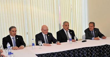 محلب يلتقى نظيره اللبنانى على هامش المؤتمر الاقتصادى بشرم الشيخ