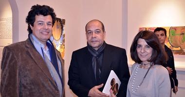 """بالصور.. سميح ساويرس وأنس الفقى ومشاهير السياسة والمفكرين بمعرض """"الحنين"""""""