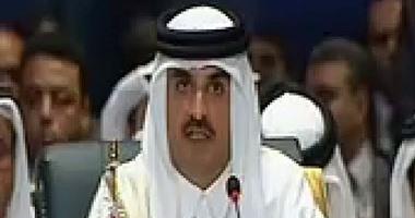 وجه أمير قطر تميم بن حمد