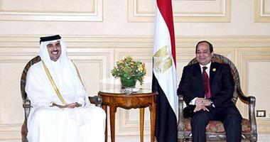 الرئيس السيسى وأمير قطر