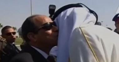 السيسى وأمير قطر