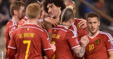 دي بروين وهازارد في قائمة بلجيكا بتصفيات يورو 2016  اليوم السابع