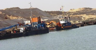 رفع 116 مليون متر مكعب رمال من أعمال التكريك فى قناة السويس الجديدة