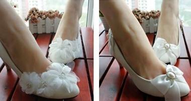 d8b0fd01c حذاء الزفاف راحة وأناقة باللون الأبيض - اليوم السابع