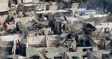 بالصور.. تشرد الالاف عقب اندلاع حريق فى منطقة سكنية بالعاصمة الفلبينية