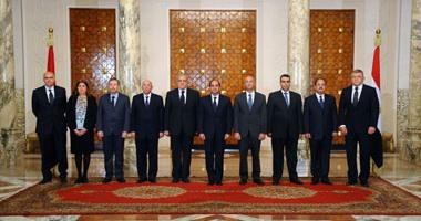 السيسى مع الوزراء الجدد