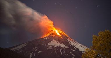 ثوران بركان نشط كبير شرق العاصمة المكسيكية