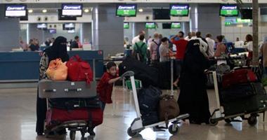 انتظام الرحلات الدولية والداخلية فى مطار القاهرة
