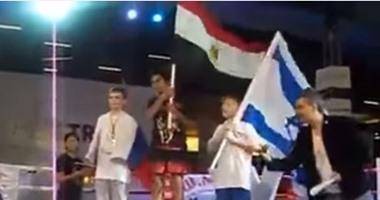 الطفل المصرى يتفوق على إسرائيلى فى مسابقة المواى تاى القتالية