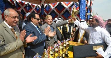 السيف الذهبى لقبيلة الترابين فى ختام مهرجان الهجن الخامس عشر بالإسماعيلية