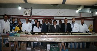 بالصور.. زيارة رئيس بعثات جامعة واسيدا اليابانية لمركب خوفو