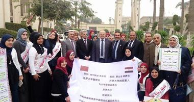 رئيس جامعة صينية: على رؤساء الجامعات بالصين ومصر الحفاظ على الحضارات ونقلها