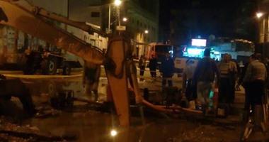 كسر ماسورة غاز بسبب سيارة نظافة بأجا بالدقهلية والحماية المدنية تسيطر على الموقف
