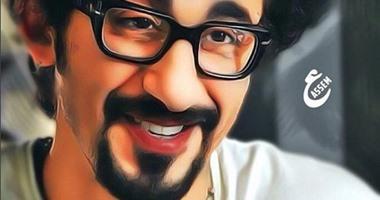 أحمد حلمى ينشر 93 صورة رسمها محبوه له عبر  انستجرام   اليوم السابع