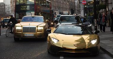 نتيجة بحث الصور عن صور اسطول من السيارات المصنوعة من الذهب