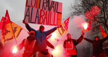 مظاهرات بفرنسا ضد مشروع قانون العمل وحكومة فالس تواجه تصويتا بحجب الثقة