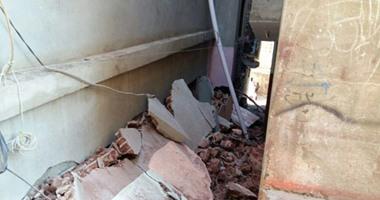 مصرع سيدة فى انهيار منزل مكون من طابقين بطهطا سوهاج
