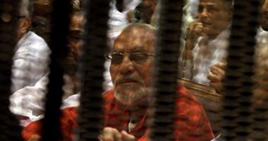 """اليوم.. استكمال محاكمة """"بديع"""" و104 آخرين بأحداث عنف الإسماعيلية"""