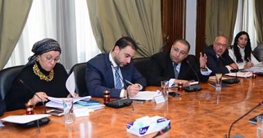 وزير الاستثمار خلال الاجتماع