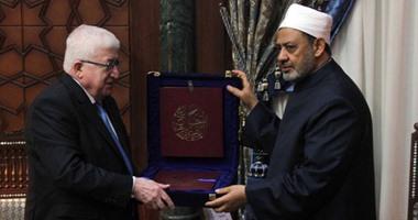 بالفيديو.. وصول الرئيس العراقى لمشيخة الأزهر للقاء الإمام الأكبر