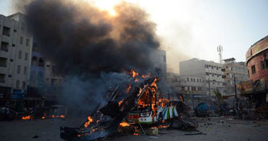 بالصور مقتل وإصابة 12 شخصا فى انفجار عبوة ناسفة جنوب شرقى بغداد