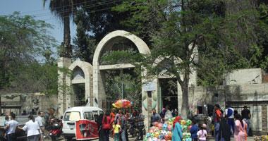 توافد المئات على حديقة الأندلس بطنطا للاحتفال بشم النسيم