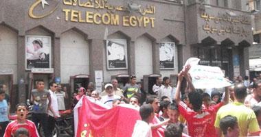 تظاهر المئات ببنى سويف احتجاجا على تجميد أنشطة نادى التليفونات