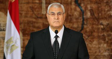 كلمة الرئيس عدلي منصور بمناسبة الاحتفال بذكري نصر 6 اكتوبر