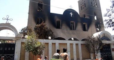 """استئناف محاكمة 119 إخوانيا فى """"حرق كنيسة مار جرجس بسوهاج"""" اليوم"""