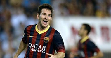 ميسى لاعب برشلونة الإسبانى
