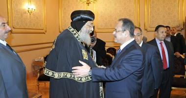 البابا تواضروس ووزير الداخليه مجدى عبد الغفار