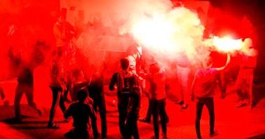 ألتراس نهضاوى يقتحم ميدان عبد المنعم رياض ويطلق الشماريخ والأمن يطاردهم