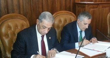 توقيع البروتوكول بين مصر وإيطاليا