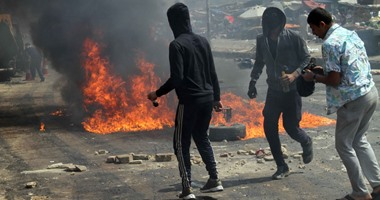 إصابة أشخاص اشتباكات الأهالى والإخوان