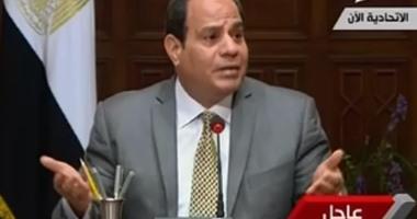 السيسي: التعامل الشعبى مع أزمة سد النهضة أثر بالسلب على المفاوضات السياسية