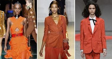 منصات الموضة.. البرتقالى والأصفر ألوان تسيطر على الربيع 42016131533525206