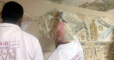 وزير الآثار والسفير الأمريكي يتفقدان العمل في ترميمات معبد الكرنك