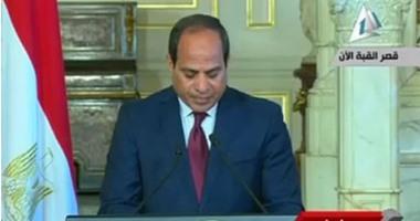 السيسى:بحثت مع هولاند التعاون بين البلدين لمكافحة الإرهاب فى الشرق الأوسط