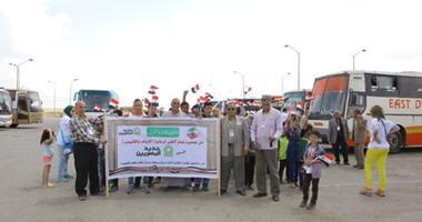 """بالصور..""""حديد المصريين""""تستكمل احتفالات يوم اليتيم برحلة لـ100طفل من القليوبية"""