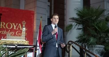 جون كاسن السفير البريطانى لدى القاهرة
