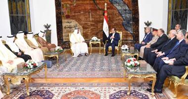 """انطلاق مباحثات الرئيس السيسى وولى عهد """"أبو ظبى"""""""