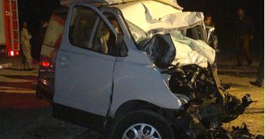 إصابة 10 أشخاص فى حادث تصادم ميكروباص وأتوبيسين بشبين القناطر