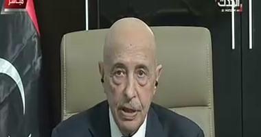 رئيس مجلس النواب الليبى يدين حادث تفجير كنيستى مارجرجس والمرقسية