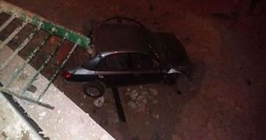 صورة إصابة مواطن بكسور فى حادث مرورى بنطاق محافظة المنيا