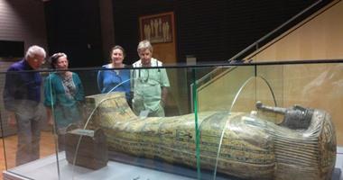 تطوير حجرة المومياء بمتحف آثار مكتبة الإسكندرية على الطراز مقبرتى سيتى ورمسيس