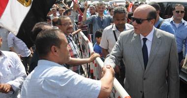 مدير أمن الجيزة يتفقد الحالة الأمنية خلال احتفال المواطنين بشم النسيم