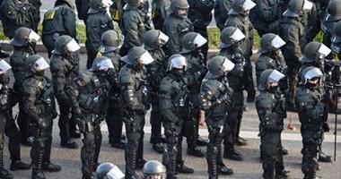 تشديد الإجراءات الأمنية فى مدينة كولونيا الألمانية خلال مؤتمر لحزب يمينى