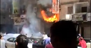 الحماية المدنية تسيطر على حريق بمحل فى الفيوم
