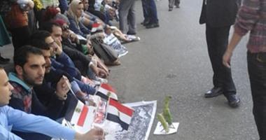 وقفة لحملة الماجستير والدكتوراة أمام وزارة العدل للمطالبة بتعيينهم